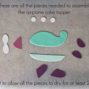 Pieces needed for airplane topper | Lil Miss Cakes