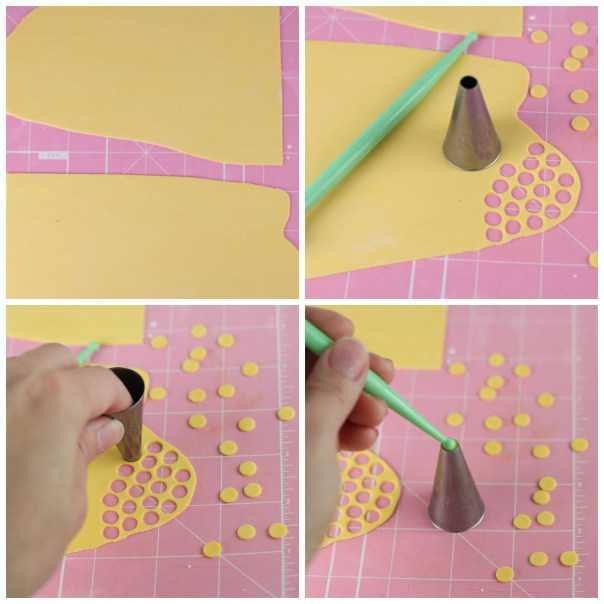 Cutting Fondant Sequins |  Lil Miss Cakes