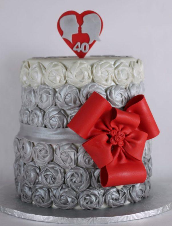 Fondant Rose Cake | Lil Miss Cakes