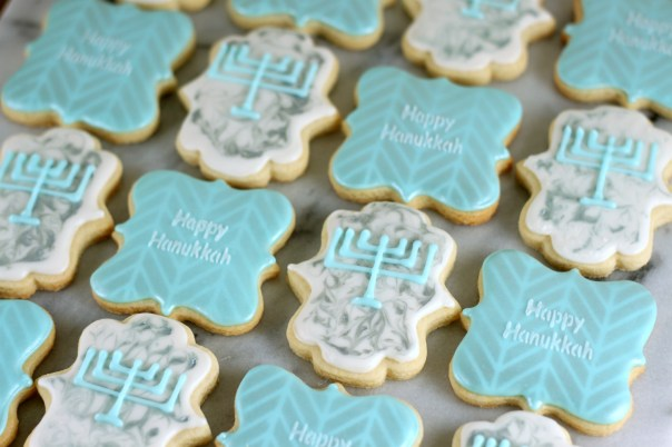 Elegant Hanukkah Cookies   Lil Miss Cakes