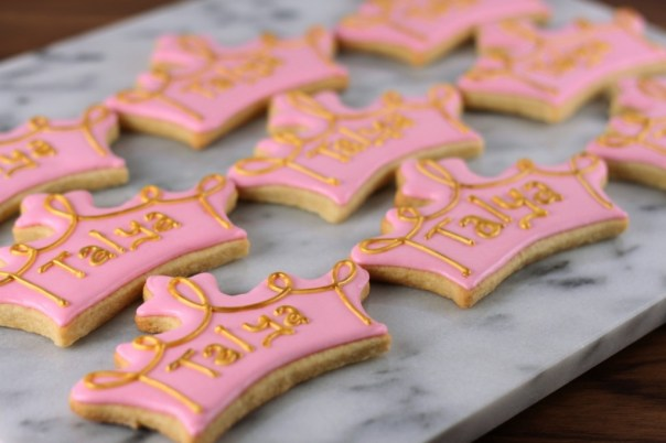 Pink and Gold Tiara Cookies | Lil Miss Cakes