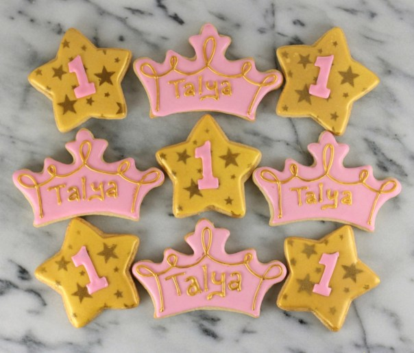 Tiara and Star Sugar Cookies  | Lil Miss Cakes