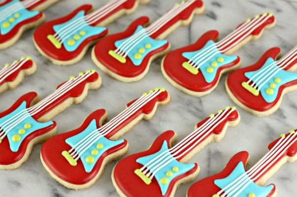 Electric Guitar Cookies   Lil Miss Cakes
