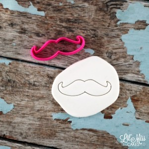 Mustache Cutter | Lil Miss Cakes