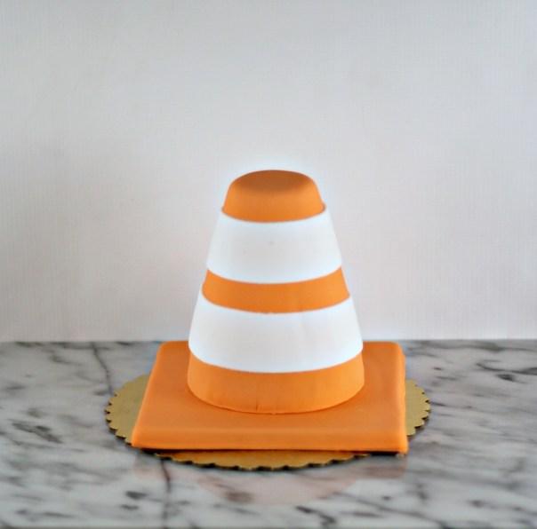 Orange Contruction Cone Smash Cake | Lil Miss Cakes