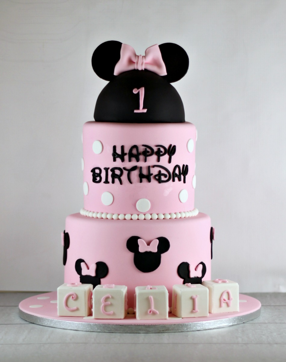 Minnie Mouse First Birthday Cake Lil Miss Cakes Lil Miss Cakes