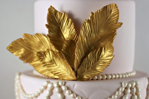 Gold Fondant Feathers  Lil Miss Cakes