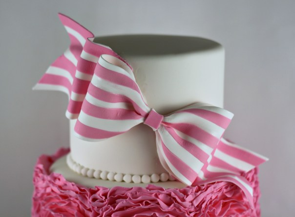 Striped Gum Paste Bow | Lil Miss Cakes