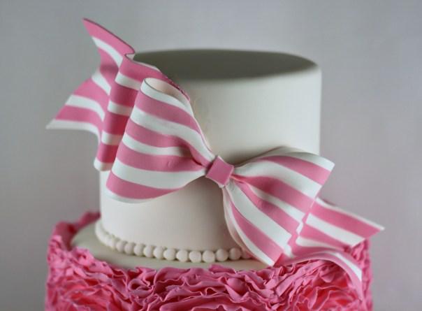 Striped Gum Paste Bow | Lil Miss Cakes