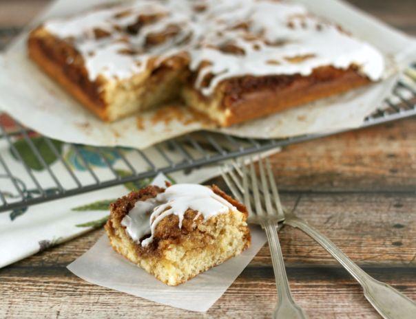 Cinnamon Roll Cake Slice | Lil Miss Cakes