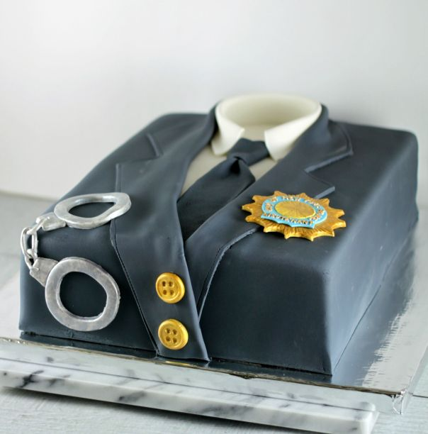 NYPD Uniform Cake   Lil Miss Cakes