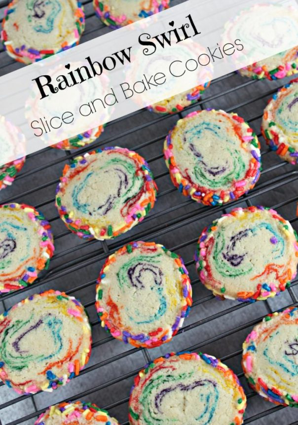 Rainbow Swirl Cookies | Lil Miss Cakes