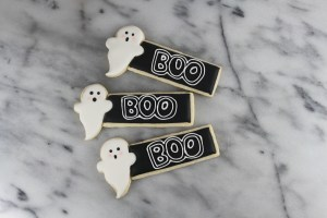Ghost Place Card Cookie | Lil MIss Cakes