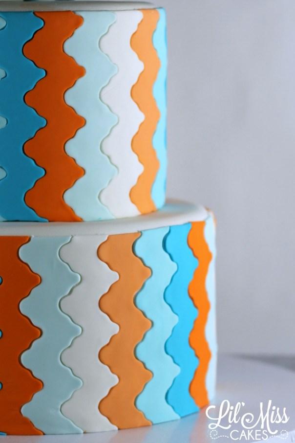 Funky Chevron Stripe | Lil Miss Cakes