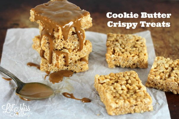 Cookie Butter Crispy Treats