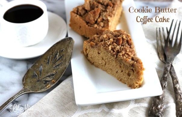 Cookie Butter Coffee Cake | Lil Miss Cakes