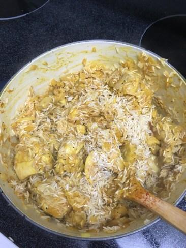 stir in rice