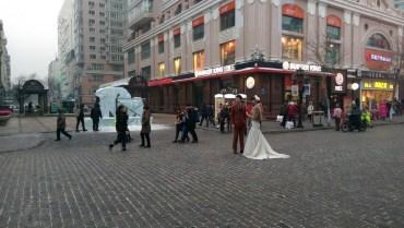 Wedding photos, mid-winter, brrr!