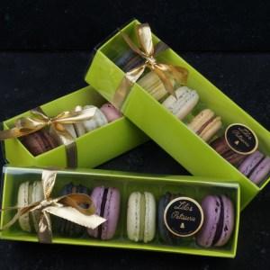 Macarons Geschenkpackungen fertig