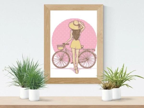 point de croix la bicyclette