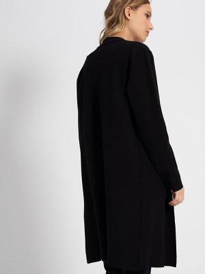 manteau noir maille icode