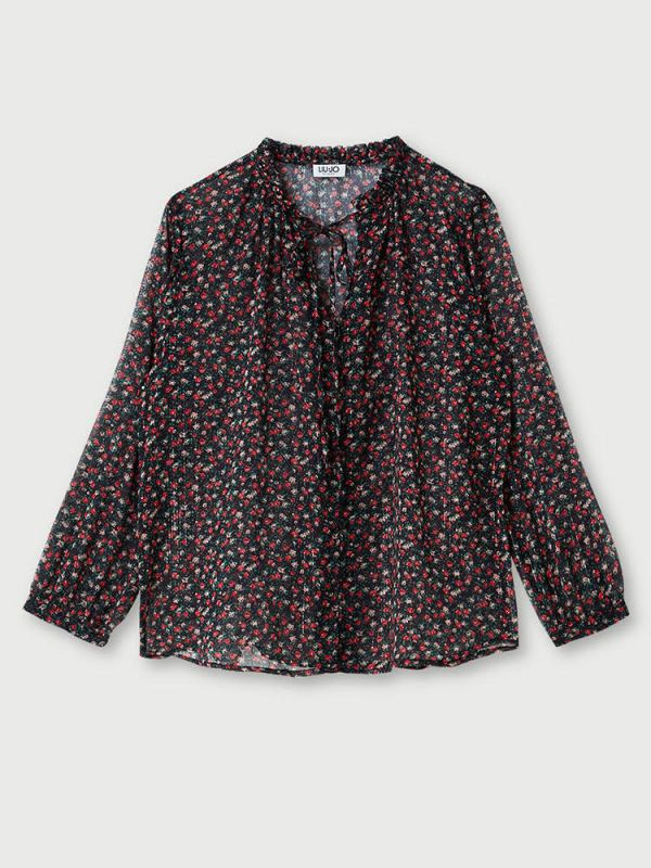 Blouse WF0449 T4184flower print 5