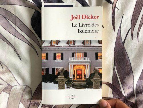 Le livre des Baltimore de Joel Dicker