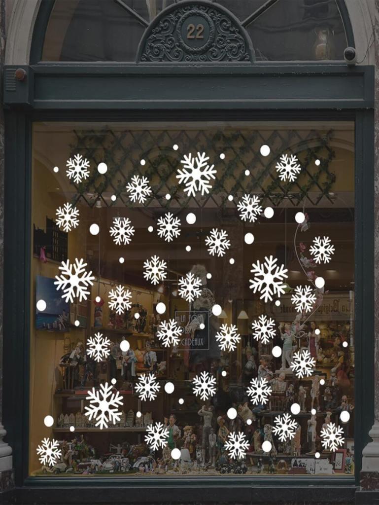 Sticker de fenêtre avec imprimé flocons de neige – SHEIN