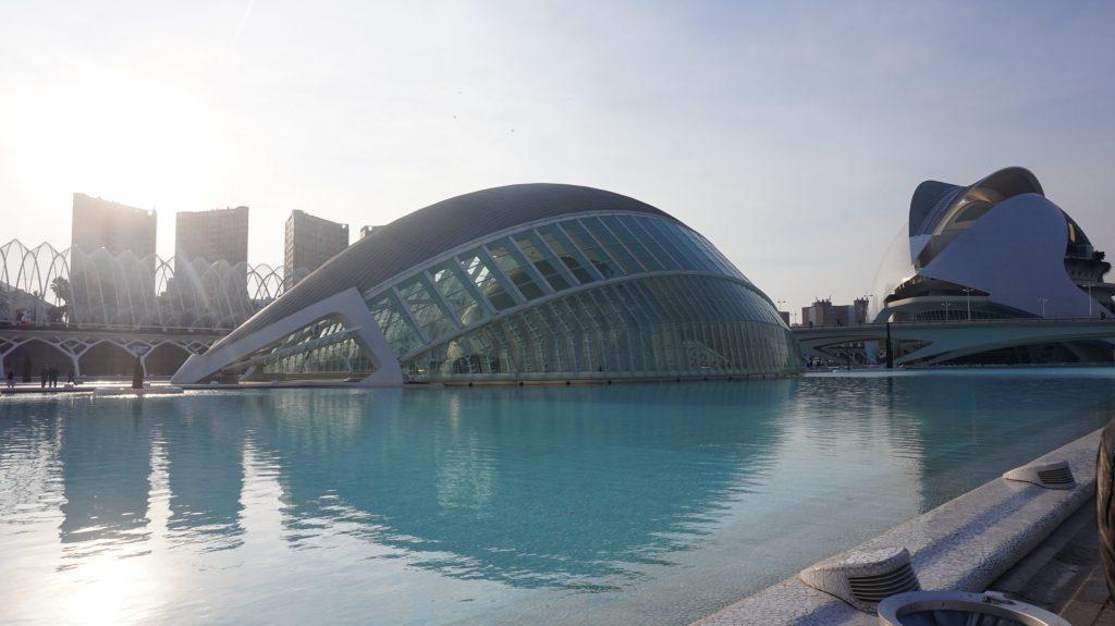 La cité des arts et des sciences de Valencia en Espagne