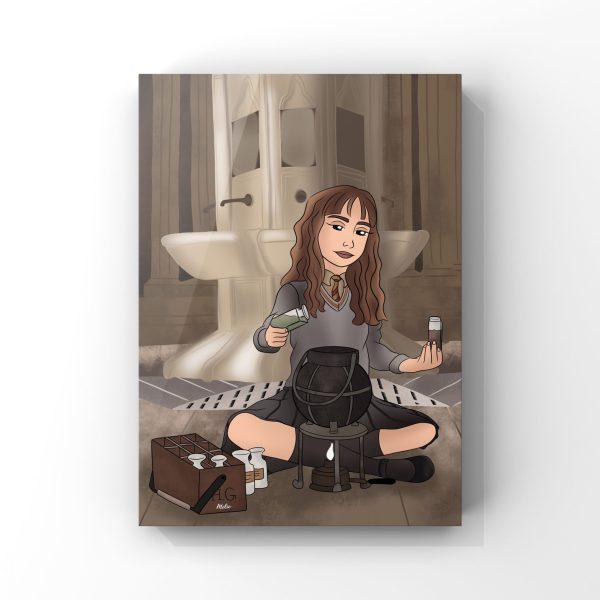 Illustration d'Hermione Granger du film Harry Potter de JK Rowling