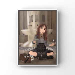 Illustration d'Hermione Granger du film Harry Potter de JK Rowling