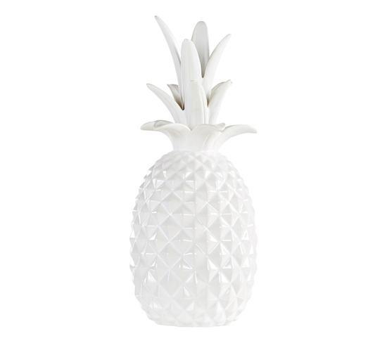Statue palmier blanche
