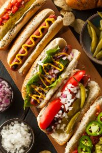 make your own hot dog bar