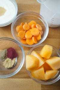 Carrot Cantaloupe Power Boost Smoothie -Get a boost of power to get you through the work day with red beet powder. - lilsweetspiceadvice.com