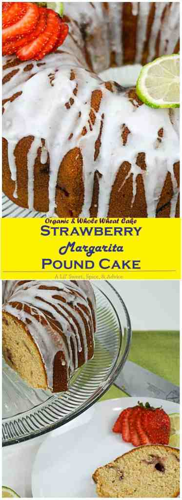 Strawberry Margarita Pound Cake -- Your staple strawberry margarita meets your grandmother's scrumptious pound cake. A crowd pleaser for sure! -- lilsweetspiceadvice.com