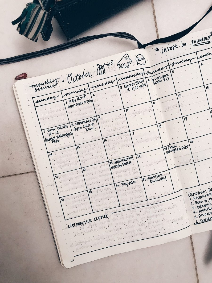 October 2018 Bullet Journal Spread & Monthly Goals