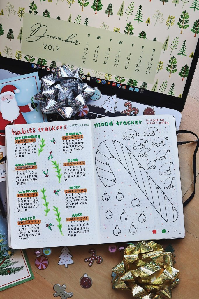 december bullet journal trackers