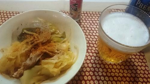リリーのライダーズカフェ 野菜の豚肉のキムチ鍋