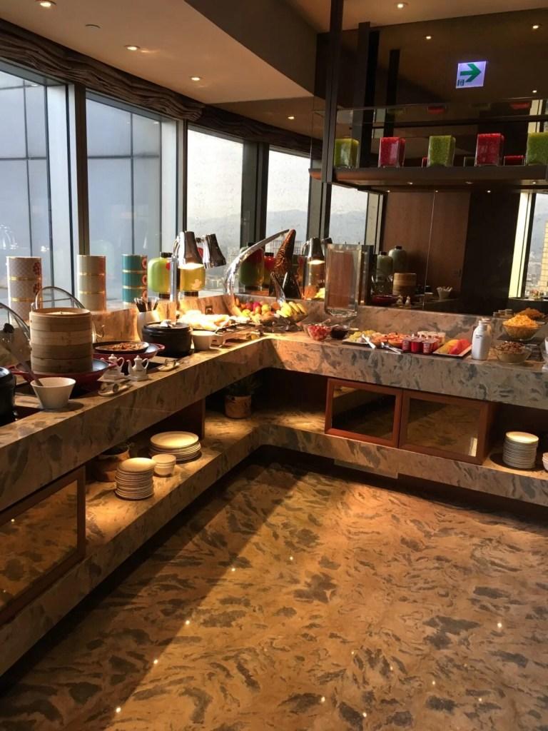 シャングリラホテル台北のホライゾンクラブラウンジ朝食
