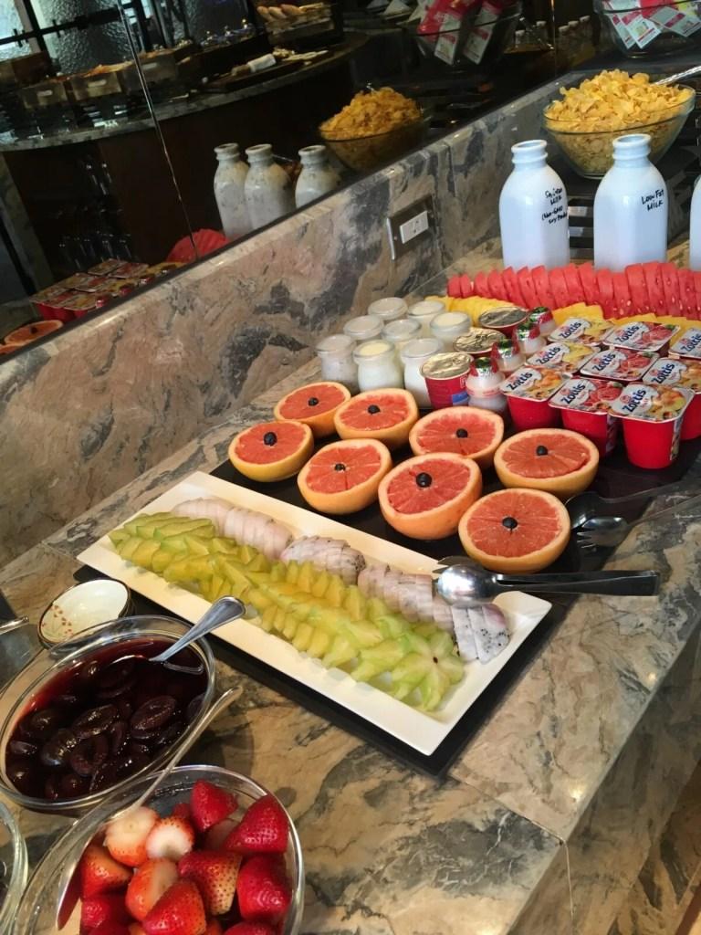 シャングリラホテル台北のホライゾンクラブラウンジ朝食2