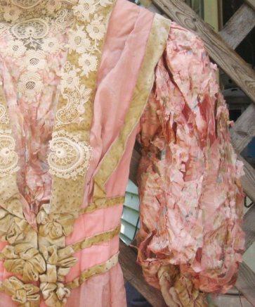 Shattered Silk-sleeved Dress, c. 1895-1905