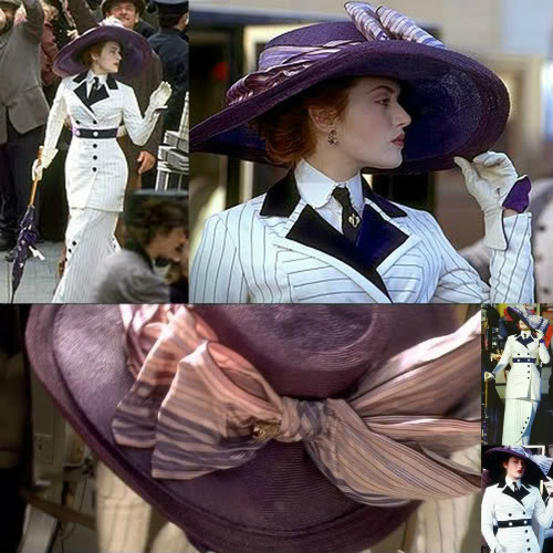 Here's a set of detail shots of the dress and hat.