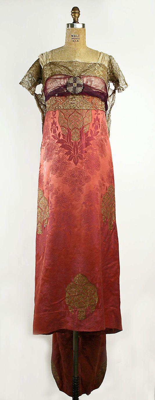 Evening Dress, French, c. 1909 - 1910; designed by Callot Soeurs, made of silk; Metropolitan Museum of Art ( C.I.40.27.2)