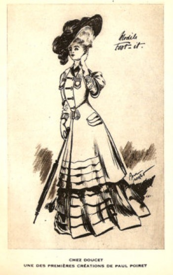 An early fashion sketch by Paul Poiret.