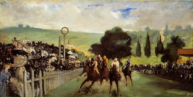 Races at Longchamps, Manet, 1867
