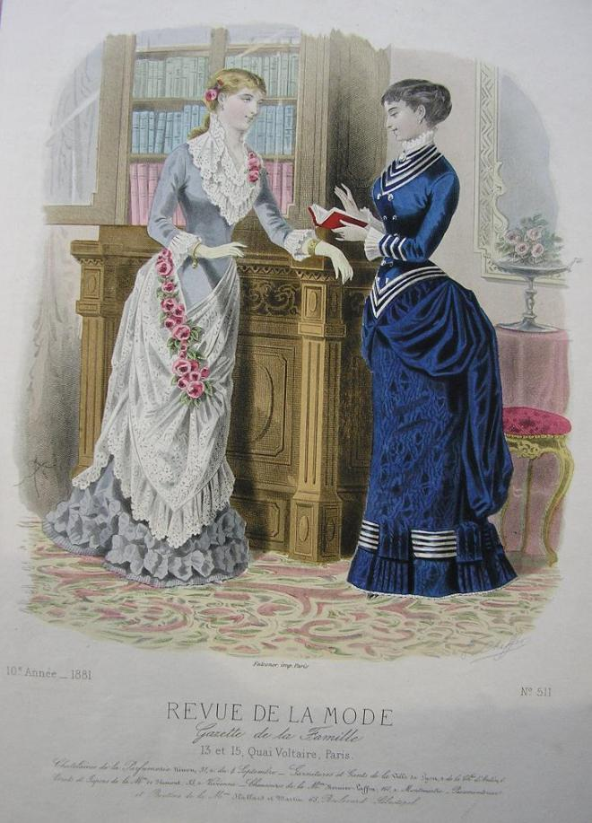 Fashion Plate, 1881 from the Revue de La Mode.