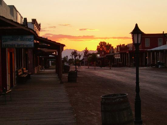 Tombstone at sunset, one of the most beautiful times of day there.