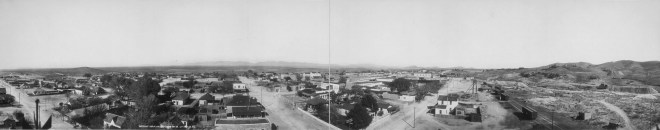 Tombstone panorama, 1909 during the Second Boom.
