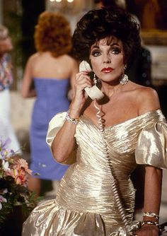 """DYNASTY - """"The Aftermath"""" - Airdate October 7, 1987. (Photo by ABC Photo Archives/ABC via Getty Images) JOAN COLLINS"""