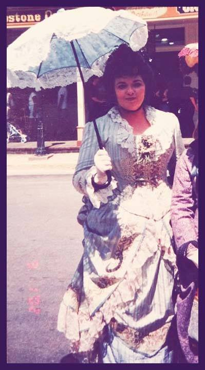 First day in Tombstone, only day as a tourist, the gown's first version. We bought the house the next time we came to town!